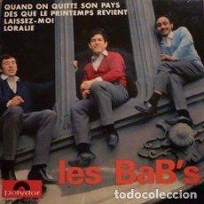 Discos de vinilo: LES BAB'S – QUAND ON QUITTE SON PAYS. Lote 238487305