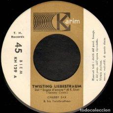 Discos de vinilo: CHUBBY SAX & THE TWISTBROTHERS – TWISTING LIEBESTRAUM. Lote 238493720