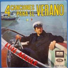 Discos de vinilo: EP - LUIS AGUILÉ - 4 CANCIONES PARA EL VERANO, 1965. Lote 238494810