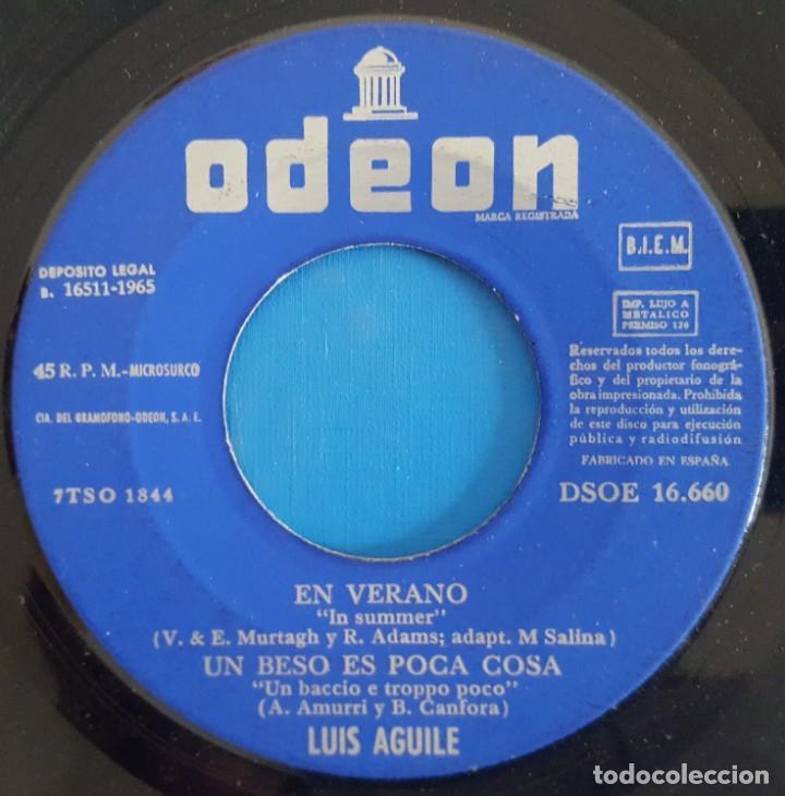 Discos de vinilo: EP - LUIS AGUILÉ - 4 CANCIONES PARA EL VERANO, 1965 - Foto 3 - 238494810