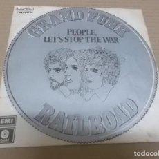 Disques de vinyle: GRAND FUNK RAILROAD (SN) PEOPLE LET'S STOP THE WAR AÑO 1971 - EDICION ITALIA. Lote 53822123