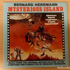 Discos de vinilo: MYSTERIOUS ISLAND BERNARD HERRMANN CLOUD NINE RECORDS UK 1984 COMO NUEVO Y MUY RARO!!!. Lote 238556495