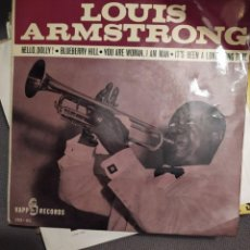 Discos de vinilo: LOUIS ARMSTRONG :HELLO, DOLLY! / BLUEBERRY HILL / YOU ARE WOMAN, I AM MAN / IT'S BEEN A LONG, LONG. Lote 238586450