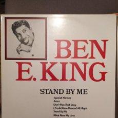 Discos de vinilo: BEN E. KING STAND BY ME, SPANISH HARLEM, AMOR... ED ALEMANIA LP ROCK. Lote 238594685