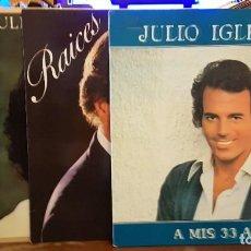 Discos de vinilo: LOTE 4 DISCO JULIO IGLESIAS. Lote 238622290
