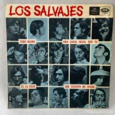 Discos de vinilo: SINGLE LOS SALVAJES - TODO NEGRO / UNA CHICA IGUAL QUE TU - ESPAÑA - AÑO 1966. Lote 238633270