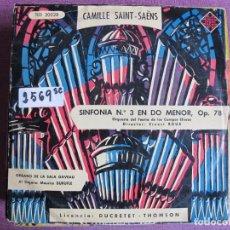 Discos de vinil: 10 PULGADAS - CAMILLE SAINT-SAENS - SINFONIA Nº 3 EN DO MENOR (SPAIN, TELEFUNKEN SIN FECHA). Lote 238638455