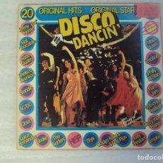Discos de vinilo: DISCO DANCIN'. 20 ORIGINAL HITS. LP EDICION HOLANDESA 1978. HEP RECORDS. Lote 238642380