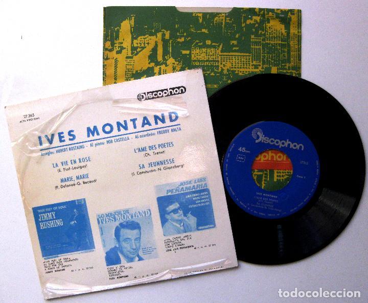 Discos de vinilo: Yves Montand - La Vie En Rose +3 - EP Discophon 1964 BPY - Foto 2 - 238654520