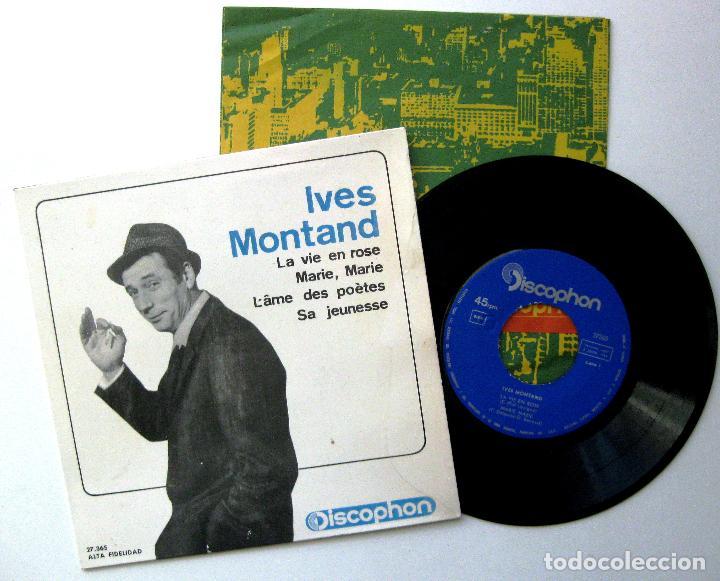 YVES MONTAND - LA VIE EN ROSE +3 - EP DISCOPHON 1964 BPY (Música - Discos de Vinilo - EPs - Canción Francesa e Italiana)