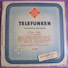 Discos de vinil: 10 PULGADAS - ERNA SACK - IN IHREN WELTERFOLGEN (GERMANY, TELEFUNKEN SIN FECHA). Lote 238656975