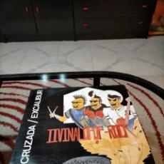 Discos de vinilo: LA CRUZADA-EXCALIBUR. PROMOCIONAL LP VINILO. II VINALOPOP-ROCK, ELDA.. Lote 238657285
