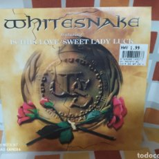 Discos de vinilo: WHITESNAKE - IS THIS LOVE / SWEET LADY LUCK . SINGLE VINILO. PERFECTO ESTADO. Lote 238664600