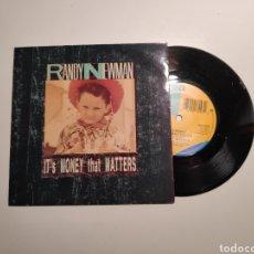 Disques de vinyle: RANDY NEWMAN, ITS MONEY THAT MATTERS, CON MARK KNOPFLER (DIRE STRAITS). SINGLE VINILO 45RPM. Lote 238666395