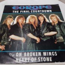 Discos de vinilo: EUROPE -THE FINAL COUNTDOWN- (1986) MAXI-SINGLE. Lote 238676200