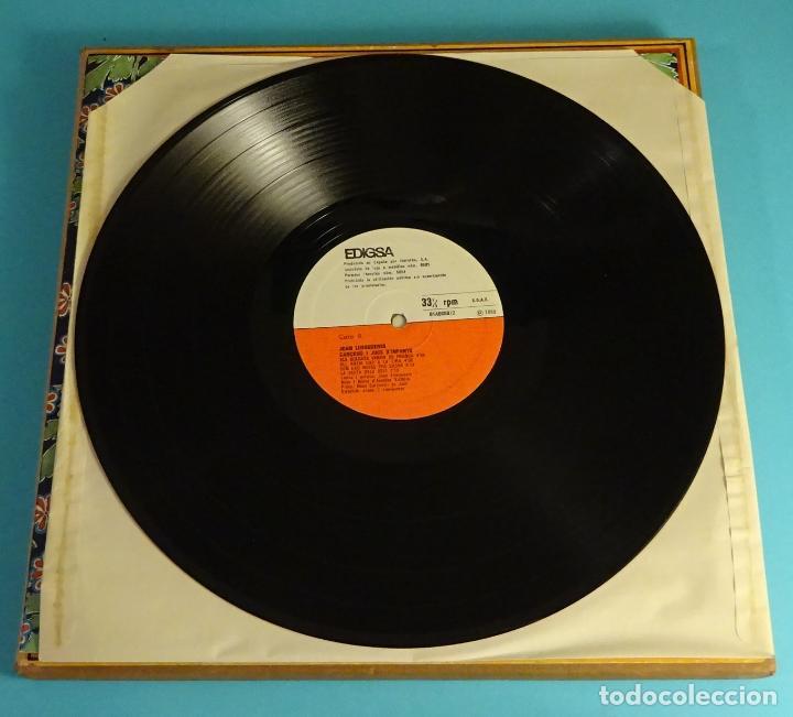Discos de vinilo: JOAN LLONGUERES. CANÇONS I JOCS DINFANTS. LIBRETO Y DOS LPS EN CAJA - Foto 7 - 238700385