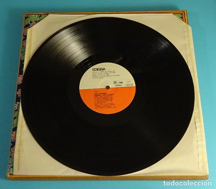 Discos de vinilo: JOAN LLONGUERES. CANÇONS I JOCS DINFANTS. LIBRETO Y DOS LPS EN CAJA - Foto 8 - 238700385