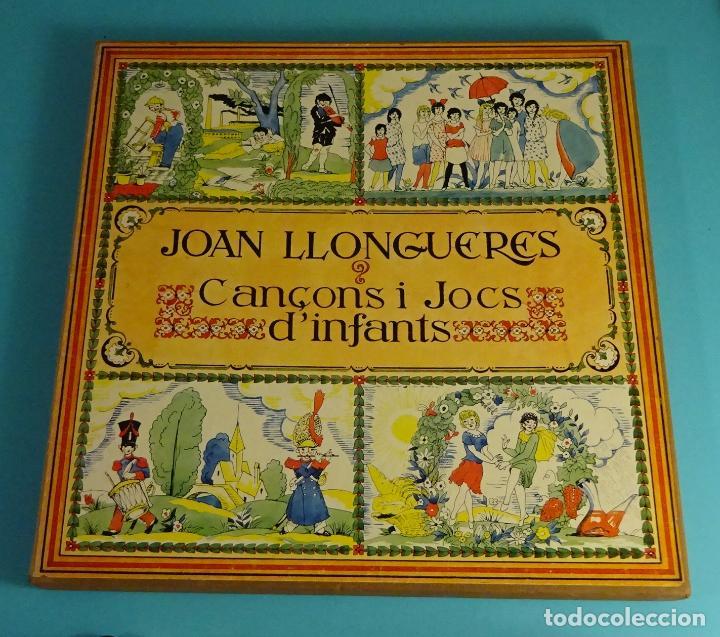 JOAN LLONGUERES. CANÇONS I JOCS D'INFANTS. LIBRETO Y DOS LPS EN CAJA (Música - Discos - LPs Vinilo - Música Infantil)