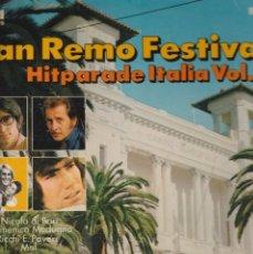 Discos de vinilo: LP SANREMO FESTIVAL ' 71 HITPARADE ITALIA VOL .3 NICOLA DI BARI /RICCHI & POVERI/D.MODUGNO /MAL LU. Lote 238730990