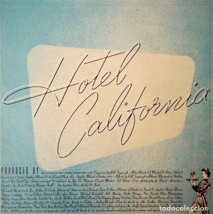 Discos de vinilo: Eagles - Hotel California / Raro y completo primer número JPN en condición de coleccionista - Foto 4 - 238739370
