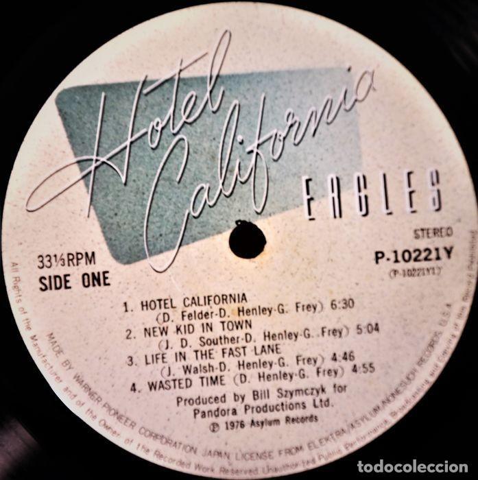 Discos de vinilo: Eagles - Hotel California / Raro y completo primer número JPN en condición de coleccionista - Foto 7 - 238739370