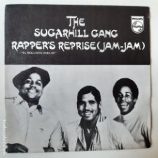 Discos de vinilo: THE SUGARHILL GANG - RAPPER´S REPRISE (JAM-JAM)- SPAIN SINGLE 1980- VINILO COMO NUEVO.. Lote 238758720