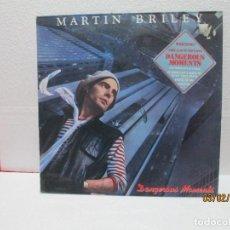 Discos de vinilo: MARTIN BRILEY – DANGEROUS MOMENTS. Lote 238799895