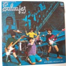 Discos de vinilo: SALVAJES - ROCKERO PREMATURO - SINGLE 1982 - VINILO COM O NUEVO.. Lote 238804225
