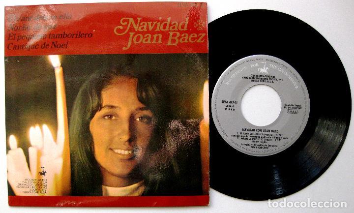 JOAN BAEZ - NAVIDAD CON JOAN BAEZ - EL CANT DELS OCELLS +3 - EP VANGUARD / HISPAVOX 1968 BPY (Música - Discos de Vinilo - EPs - Country y Folk)