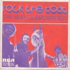 Discos de vinilo: THE HUES CORPORATION ‎– ROCK THE BOAT. Lote 238834510