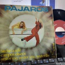 Discos de vinilo: PÁJAROS EP HITCHIN' A RIDE + 2 1970. Lote 238848040
