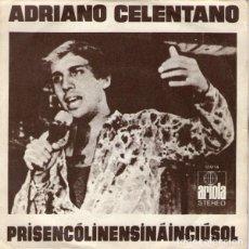Discos de vinilo: ADRIANO CELENTANO – PRISENCÓLINENSINÁINCIÚSOL. Lote 238853965