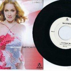 "Discos de vinilo: MADONNA 7"" VINYL SINGLE AMERICAN PIE / RICHARD HUMPTY VISSION RADIO MIX IN UNIQUE PICTURE SLEEVE. Lote 238855355"