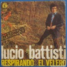 Discos de vinilo: SINGLE / LUCIO BATTISTI - RESPIRANDO, 1977. Lote 238857720