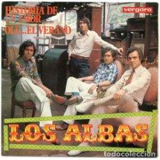 Discos de vinilo: LOS ALBAS – HISTORIA DE UN AMOR / OLE... EL VERANO. Lote 238858550