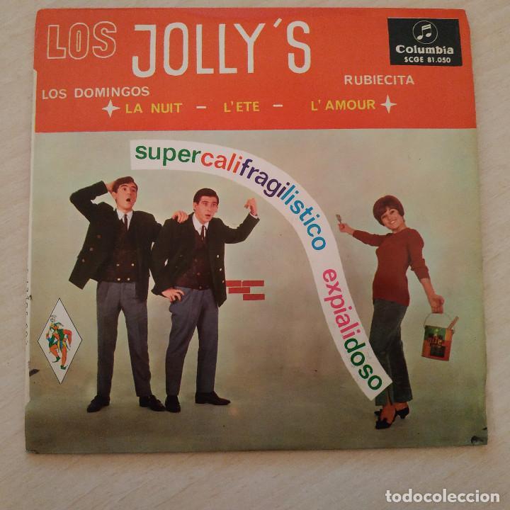 LOS JOLLY'S - SUPERCALIFRAGILISTICO EXPIALIDOSO - RARO EP COLUMBIA DEL AÑO 1965 TRICENTRO EX. ESTADO (Música - Discos de Vinilo - EPs - Grupos Españoles 50 y 60)