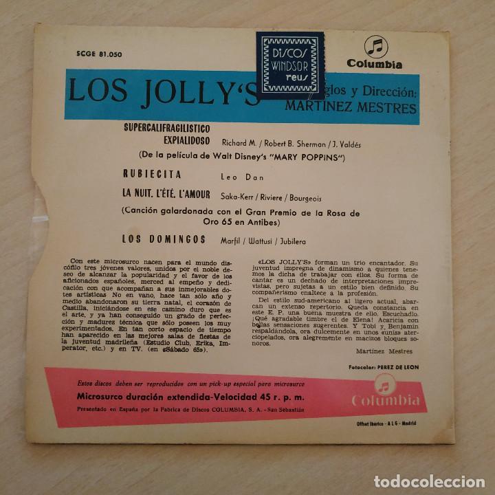 Discos de vinilo: LOS JOLLYS - SUPERCALIFRAGILISTICO EXPIALIDOSO - RARO EP COLUMBIA DEL AÑO 1965 TRICENTRO EX. ESTADO - Foto 2 - 238888945