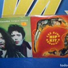 """Discos de vinilo: LOTE 2 EPS VINILOS 7""""-DISCOS LES RITA MITSOUKO TONGUE DANCE + HIP KIT. Lote 238917075"""