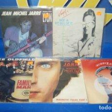 "Discos de vinilo: LOTE 5 EPS VINILOS 7""-JEAN MICHEL JARRE-MIKE OLDFIELD-VANGELIS. Lote 239152515"