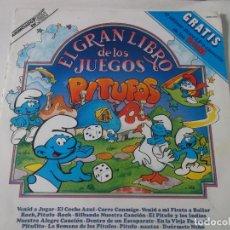 Discos de vinilo: EL GRAN LIBRO DE LOS JUEGOS PITUFOS,LO QUE SE VE EN LAS FOTOS. Lote 239372350