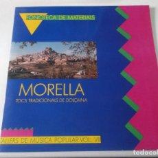 Discos de vinilo: FONOTECA DE MATERIALS -MORELLA TOCS TRADICIONALS DE DOLÇAINA-TALLERS DE MÚSICA POPULAR VOL. VII- B3,. Lote 239377055