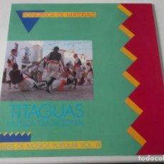 Discos de vinilo: TITAGUAS MÚSICA TRADICIONAL - TALLERS DE MÚSICA POPULAR VOL. IX. COMPLETO. Lote 239378415