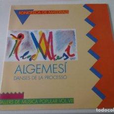 Discos de vinilo: ALGEMESI, DANSES DE LA PROCESSO. TALLERS DE MUSICA POPULAR VOL.VIII, COMPLETO. Lote 239379040
