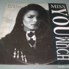 Discos de vinilo: JANET JACKSON - MISS YOU MUCH - MAXISINGLE DE AM RECORDS - 1989 - U.S.A. Lote 239397510