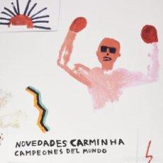 Discos de vinilo: LP NOVEDADES CARMINHA CAMPEONES DEL MUNDO VINILO GALICIA. Lote 239432070