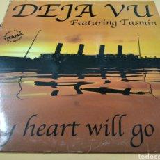 Discos de vinilo: MAXI SINGLE DEJA VU FEATURING TASMIN MY HEARTH WILL GO ON. Lote 239450205