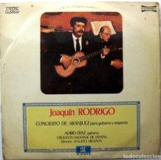 Discos de vinilo: ALIRIO DIAZ - CONCIERTO DE ARANJUEZ (JOAQUIN RODRIGO) - LP MARFER 1976 BPY. Lote 239460545