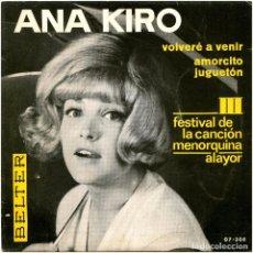 Discos de vinilo: VOLVERE A VENIR / AMORCITO JUGUETON - SG SPAIN 1966 - BELTER 07-308. Lote 239463455