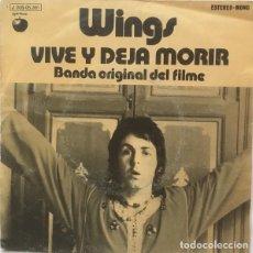Discos de vinilo: WINGS – VIVE Y DEJA MORIR (BANDA ORIGINAL DEL FILME). Lote 239473440