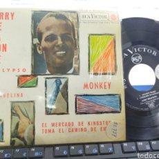 Discos de vinilo: HARRY BELAFONTE EP MONKEY + 3 ESPAÑA 1962. Lote 239477205
